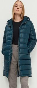 Turkusowy płaszcz House w stylu casual