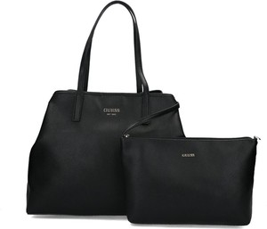 Czarna torebka Guess duża matowa