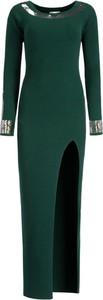 Sukienka Patrizia Pepe z długim rękawem z okrągłym dekoltem dopasowana
