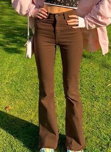 Brązowe jeansy Sandbella w stylu casual