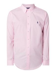 Różowa koszula POLO RALPH LAUREN z bawełny z klasycznym kołnierzykiem