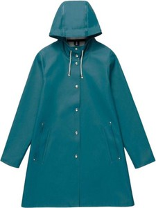 Niebieska kurtka Stutterheim długa w stylu casual