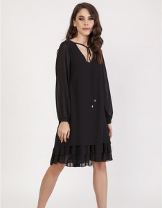 Sukienka Milena Płatek mini z szyfonu prosta