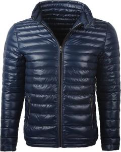 Niebieska kurtka Glo-Story w stylu casual