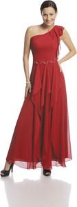 Sukienka Fokus w stylu glamour rozkloszowana