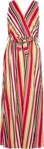 Sukienka Rose Fashion & Swimwear bez rękawów maxi z dekoltem w kształcie litery v
