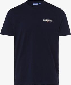Niebieski t-shirt Napapijri z dżerseju w sportowym stylu