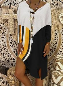 Sukienka Sandbella asymetryczna z długim rękawem