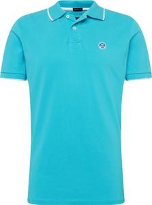Niebieska koszulka polo North Sails z dżerseju
