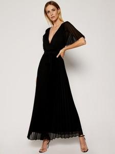 Sukienka Marella z dekoltem w kształcie litery v maxi z krótkim rękawem
