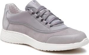 Buty sportowe Ryłko sznurowane w sportowym stylu z płaską podeszwą