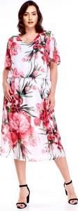 Sukienka Le-kri z tkaniny midi