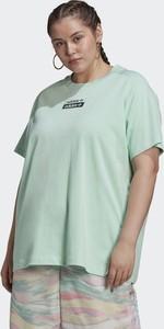 Zielona bluzka Adidas z okrągłym dekoltem