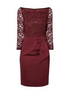 Czerwona sukienka Marie Noir mini w stylu glamour