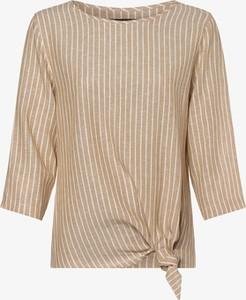 Bluzka Franco Callegari z długim rękawem w stylu casual z okrągłym dekoltem