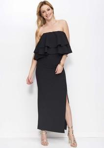 Czarna sukienka Makadamia bez rękawów maxi