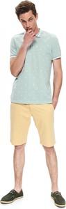 Zielona koszulka polo Top Secret w młodzieżowym stylu z krótkim rękawem