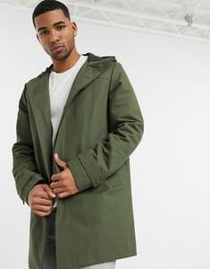 Zielony płaszcz męski Asos w młodzieżowym stylu