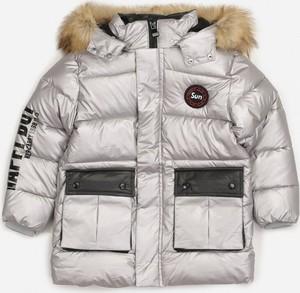 Srebrna kurtka dziecięca born2be dla chłopców