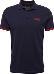 Niebieski t-shirt Barbour z dżerseju w stylu casual
