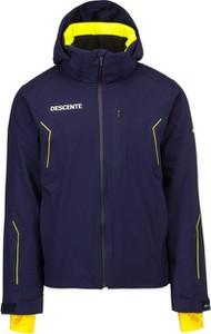 Granatowa kurtka Descente w sportowym stylu krótka z tkaniny