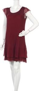 Czerwona sukienka Multiples z okrągłym dekoltem mini