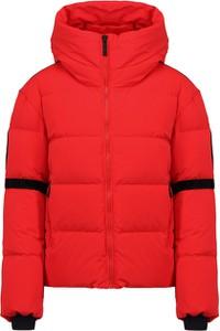 Czerwona kurtka Fusalp krótka w stylu casual z tkaniny