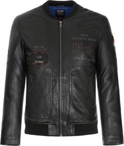 Czarna kurtka Ochnik z bawełny w stylu casual