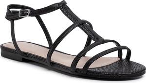 Czarne sandały Aldo z klamrami