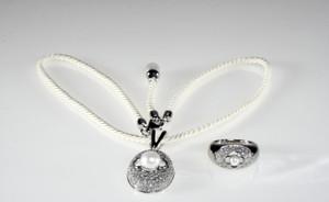 Braccatta KRÓLOWA ŚNIEGU Komplet srebrnej biżuterii