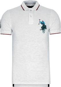 Koszulka polo U.S. Polo w stylu casual z bawełny