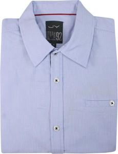 Granatowa koszula Just yuppi z bawełny