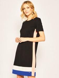 Sukienka DKNY z okrągłym dekoltem z krótkim rękawem
