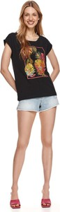 T-shirt Drywash w młodzieżowym stylu z okrągłym dekoltem z krótkim rękawem