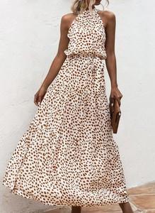 Sukienka Sandbella hiszpanka bez rękawów