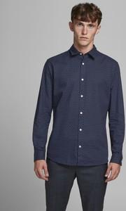 Niebieska koszula WARESHOP z długim rękawem w stylu casual