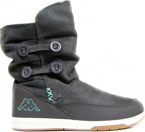 Brązowe buty dziecięce zimowe Kappa ze skóry
