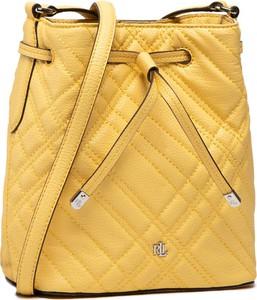 Żółta torebka Ralph Lauren na ramię