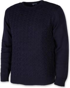Granatowy sweter Willsoor w stylu casual