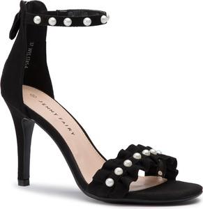 Czarne sandały Jenny Fairy ze skóry ekologicznej