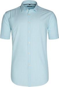 Niebieska koszula Tom Rusborg z klasycznym kołnierzykiem w street stylu