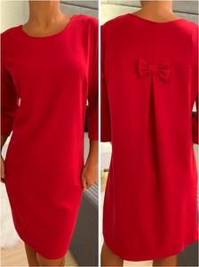 Czerwona sukienka ModnaKiecka.pl prosta w stylu casual mini