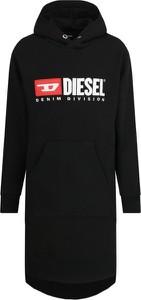 Czarna sukienka dziewczęca Diesel