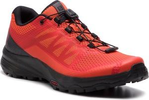Buty sportowe Salomon w sportowym stylu sznurowane ze skóry ekologicznej