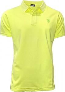 Żółta koszulka polo Blauer Usa w stylu casual z krótkim rękawem