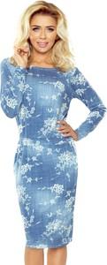 Sukienka NUMOCO w stylu casual z okrągłym dekoltem midi