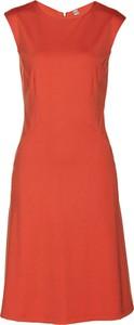 Sukienka bonprix bpc selection premium z okrągłym dekoltem