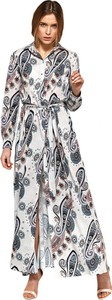 Sukienka Nife z długim rękawem maxi koszulowa
