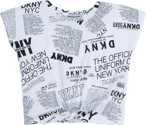 Bluzka dziecięca DKNY z krótkim rękawem