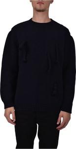 Czarny sweter Corelate z wełny w stylu casual